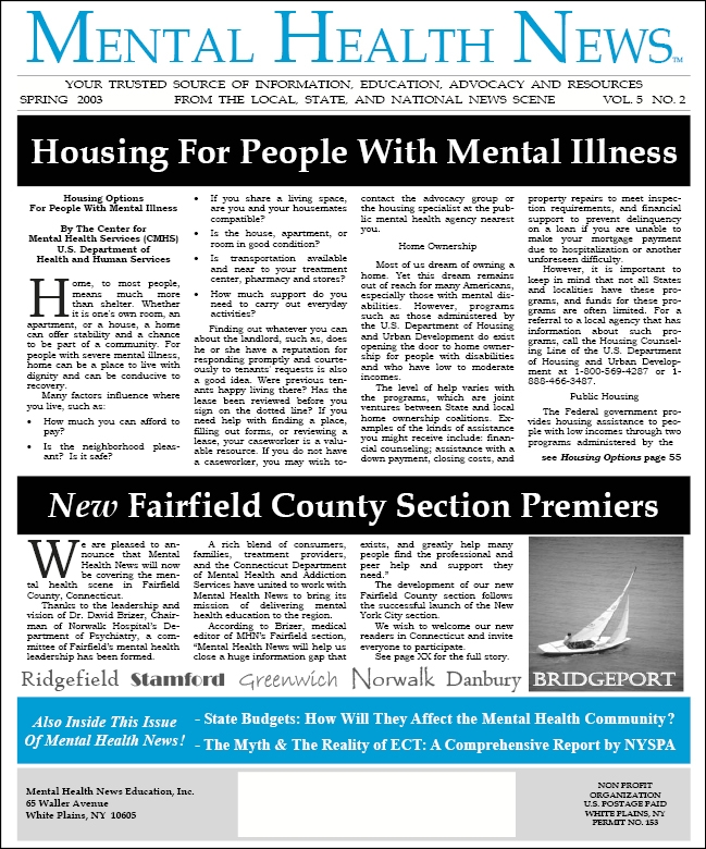 MHN Spring 2003 Issue