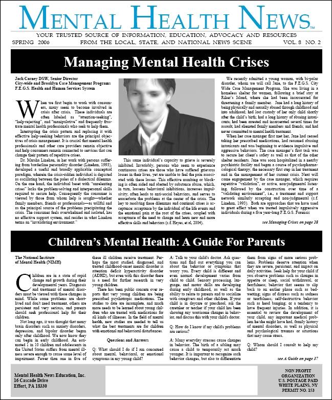 MHN Spring 2006 Issue