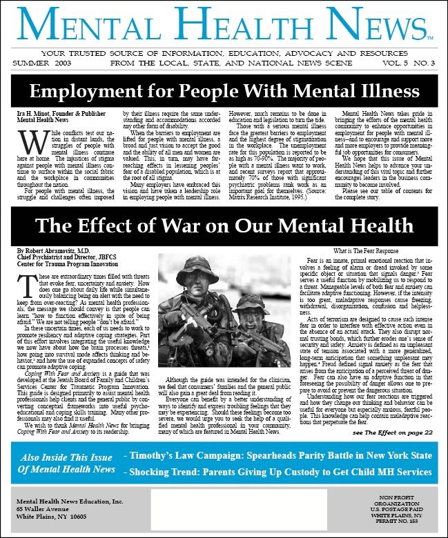 MHN Summer 2003 Issue