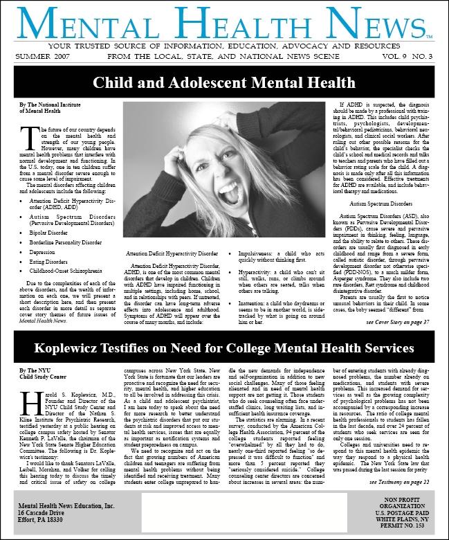 MHN Summer 2007 Issue