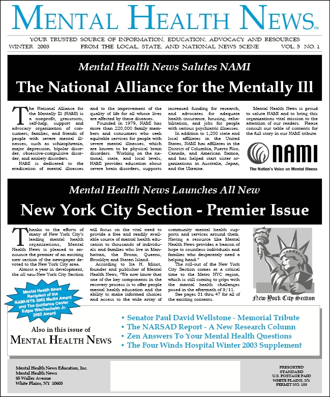 MHN Winter 2003 Issue