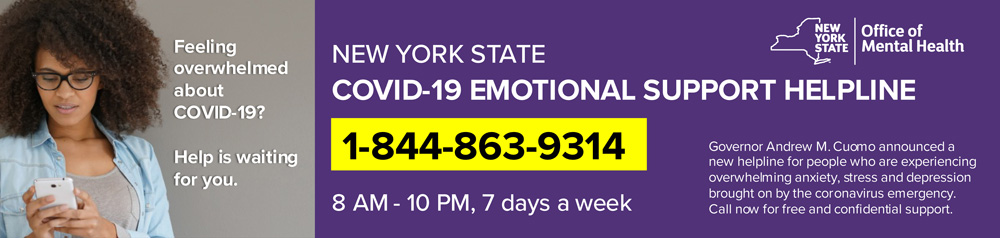 New York State COVID-19 Emotional Support Helpline