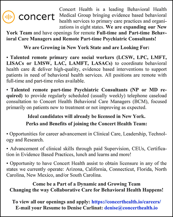 Concert Health Spring 2021