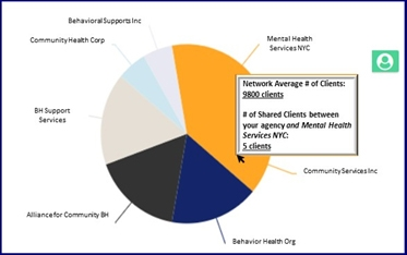 Figure 4: Clients Shared Among Network Agencies