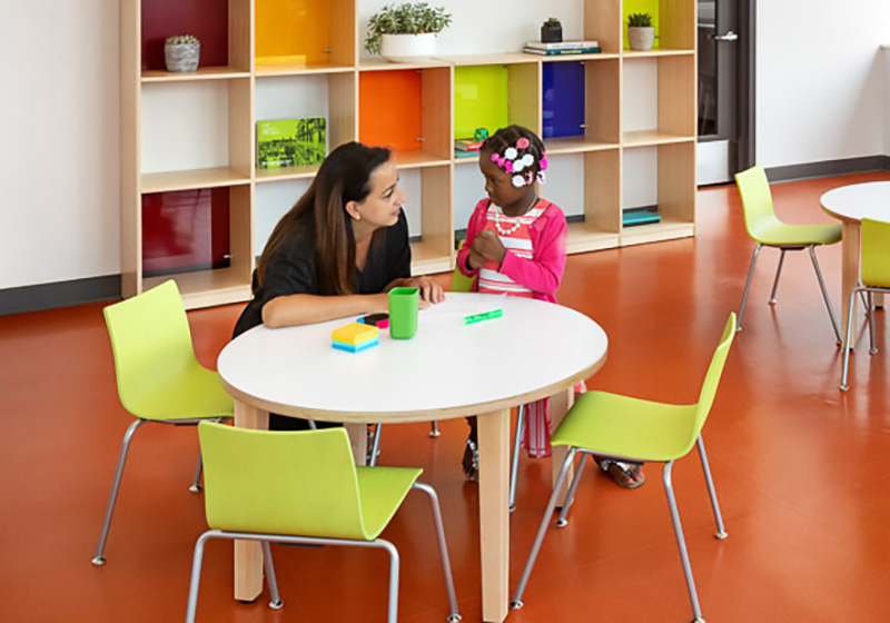Working with children at the ICL East New York Health Hub