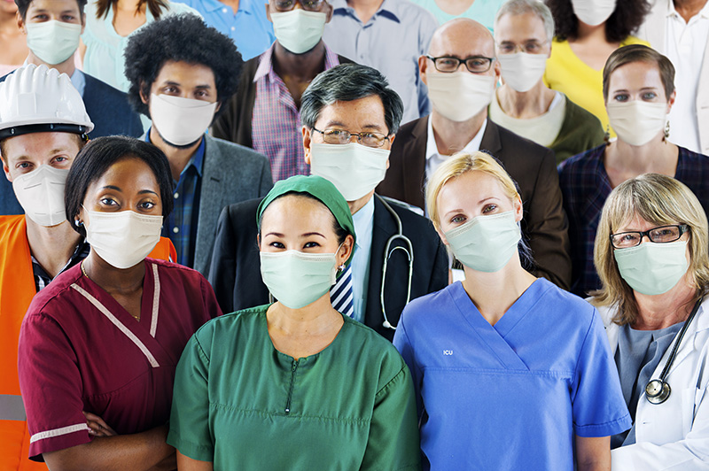 Frontline healthcare and essential workers