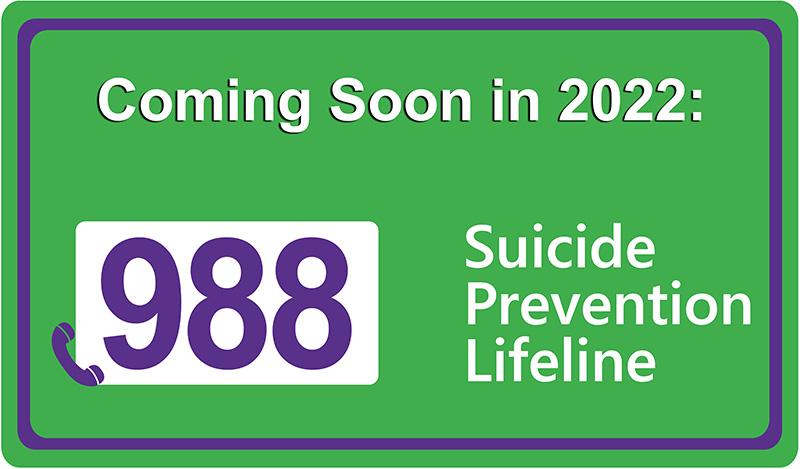 Coming soon: 988 suicide prevention lifeline